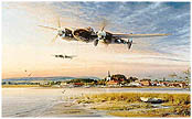 Coming in Over the Estuary - by Robert Taylor