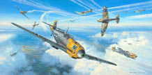 Messerschmitts Into Battle - by Mark Postlethwaite