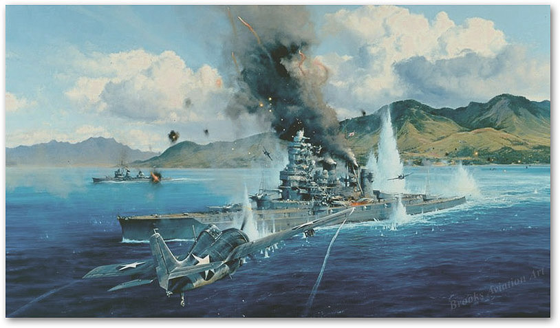 Attack on the Hiei - by Robert Taylor