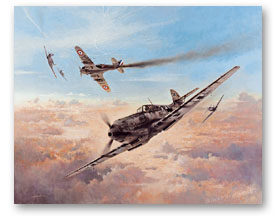 Birth of a Fighter Legend - original painting by Heinz Krebs