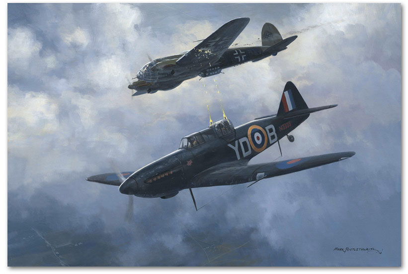 Combat over Lincolnshire - by Mark Postlethwaite