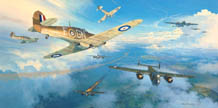 Hurricanes Into Battle - by Mark Postlethwaite
