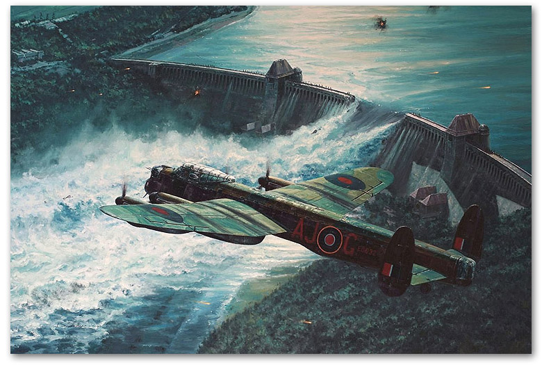 Low Pass Over the Mohne Dam - by Anthony Saunders