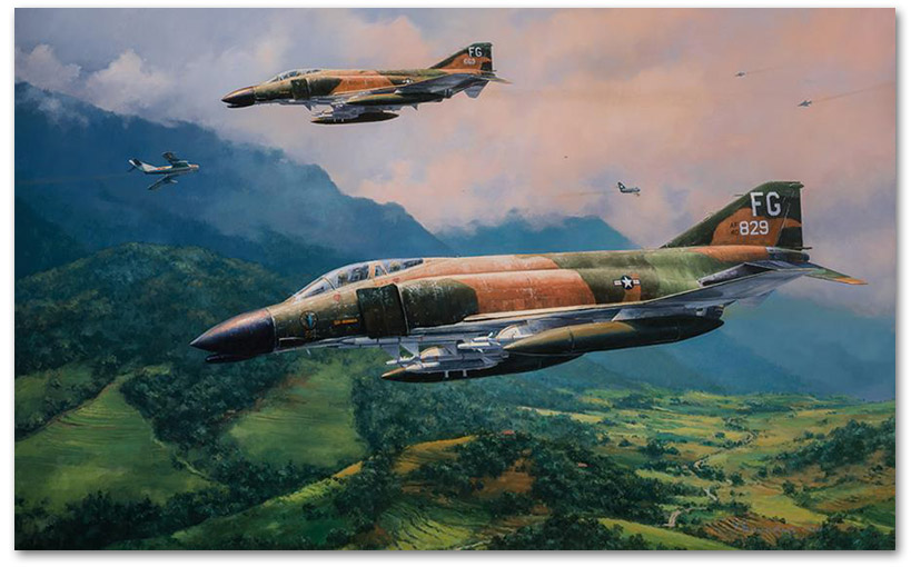 MiG Encounter - by Anthony Saunders