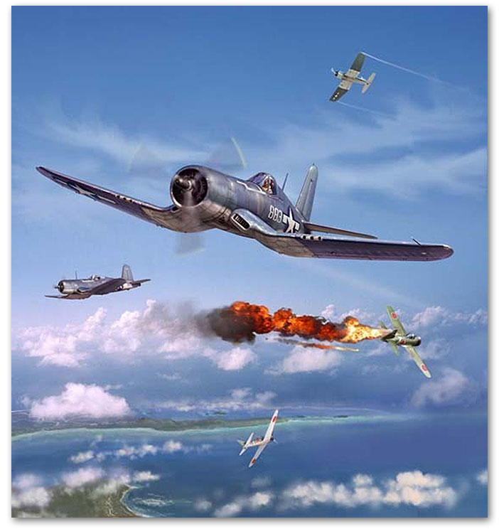 Pappy Boyington - by Jim Laurier