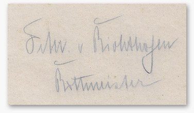 Richthofen signature